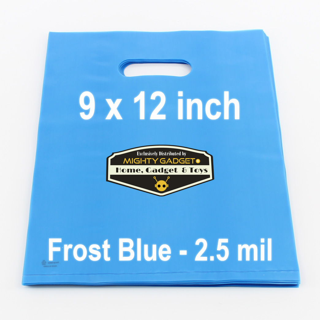 Mighty Gadget Frost Blue Translucent Merchandise Bags 2