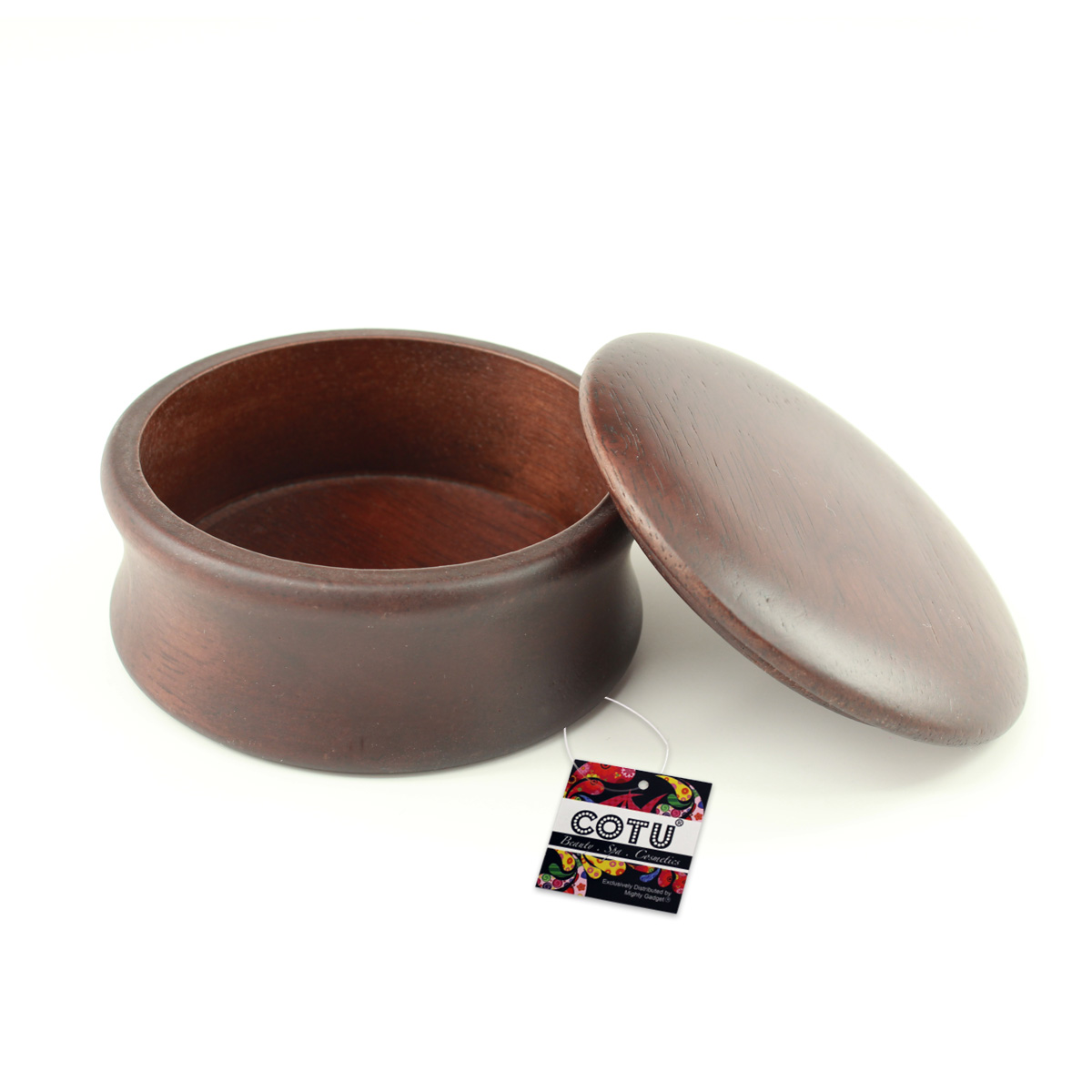 COTU Natural Wood Shave Soap Bowl 1