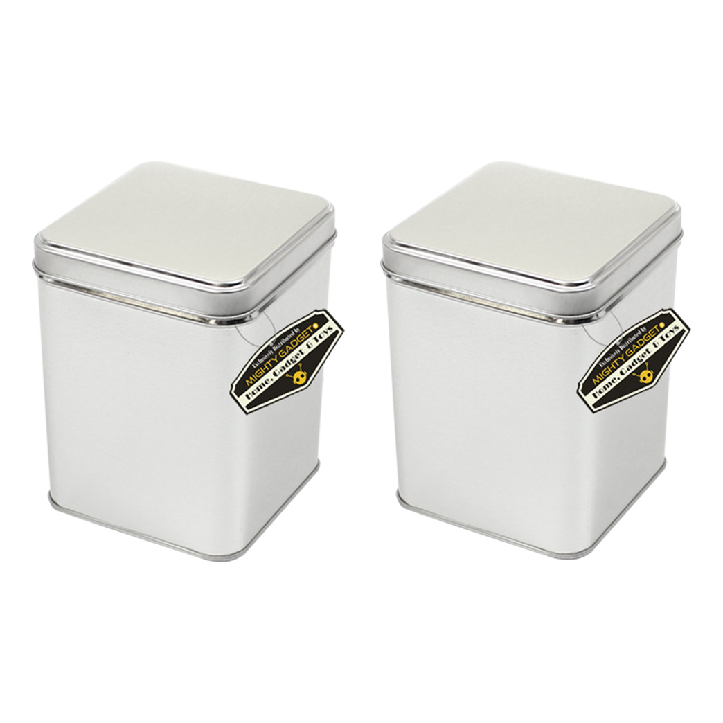 Mighty Gadget 2 x 7 oz Square Tin Cans 1