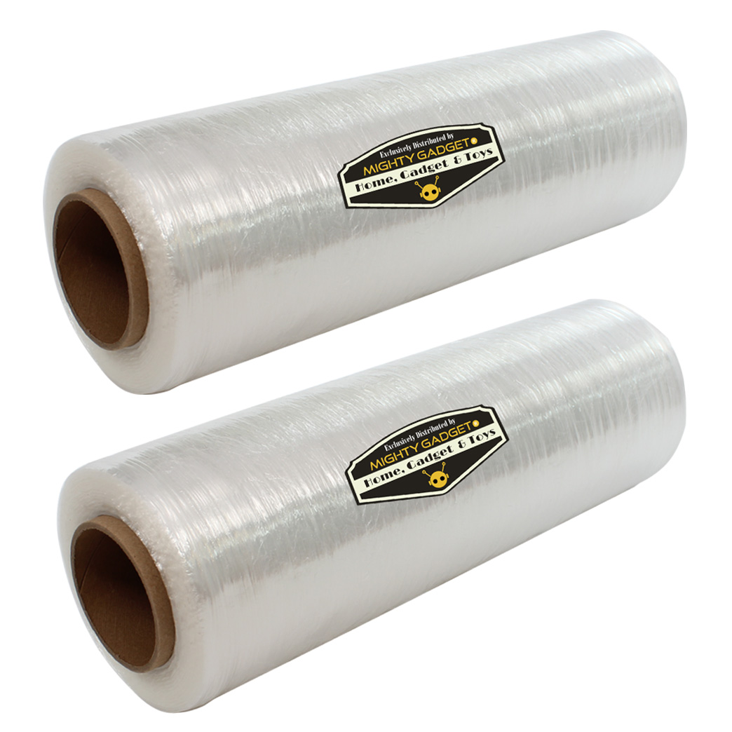 2 Pack of Mighty Gadget Lightweight Stretch Wrap Film 18_ x 1500'