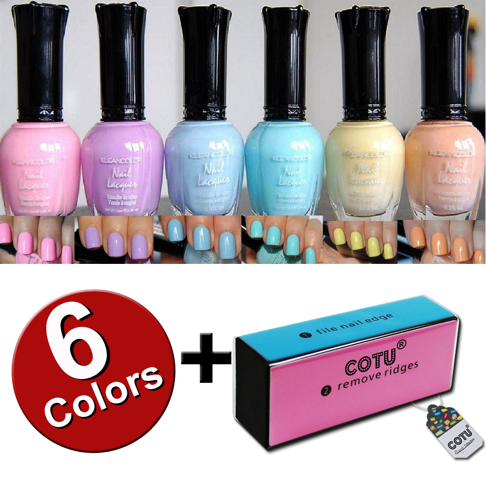 Kleancolor-Pastel-6-n-COTU-Nail-Buffer-Block-n-COTU-Nail-Buffer-Block