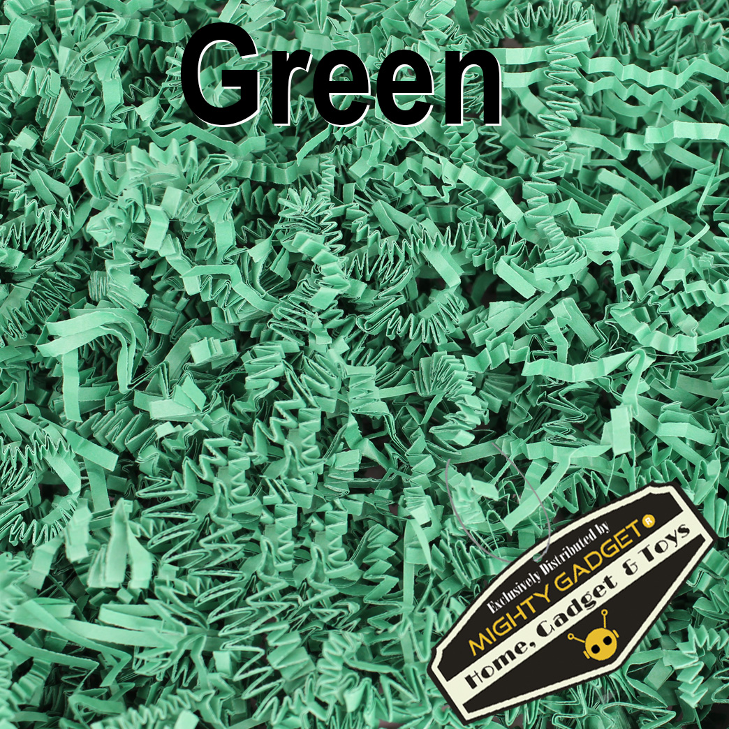 Mighty Gadget Crinkle Paper Green