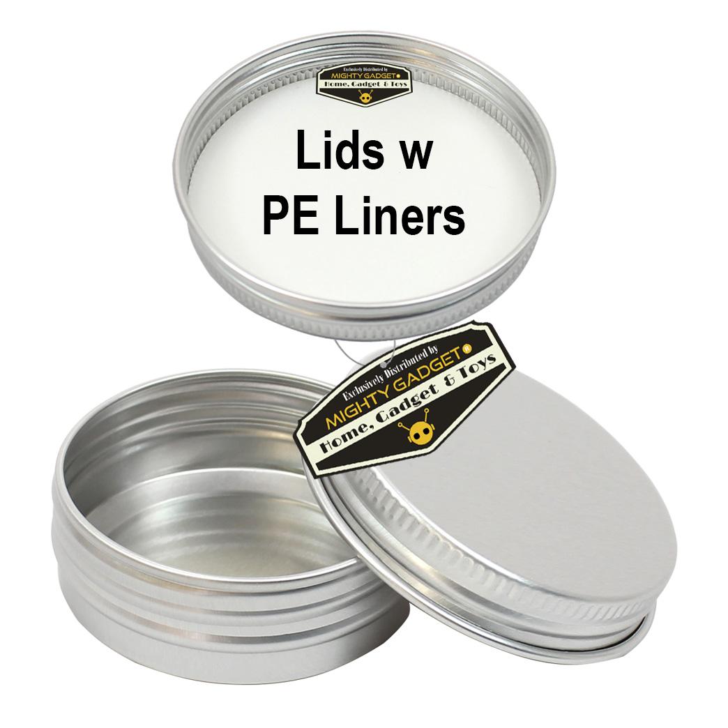 Mighty Gadget 1 oz Aluminum Tins w PE Liners Lids 1