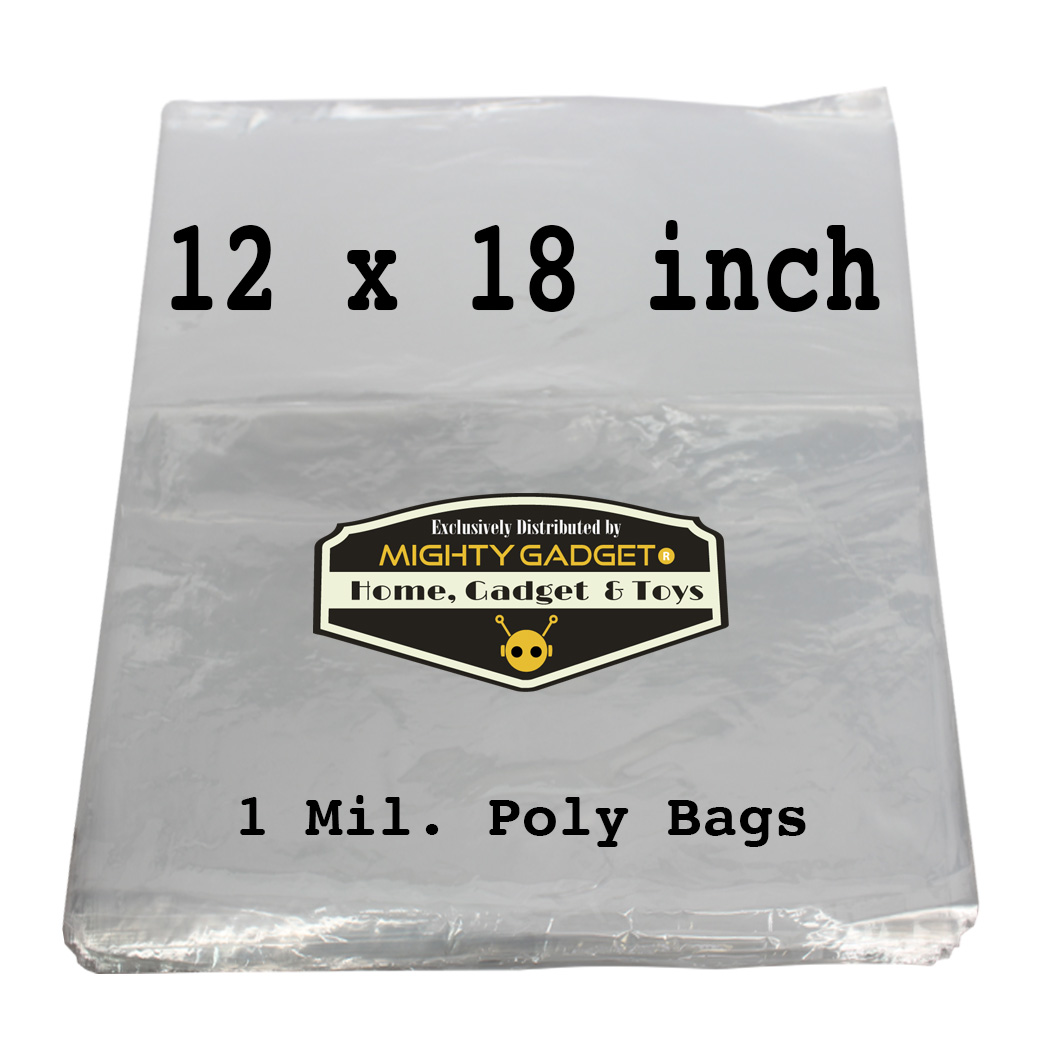 Mighty Gadget 12x18_ 1 Mil Flat Poly Bag