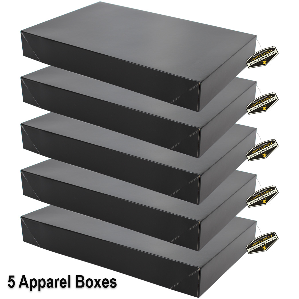 Mighty Gadget 5 x Black Apparel Boxes 1