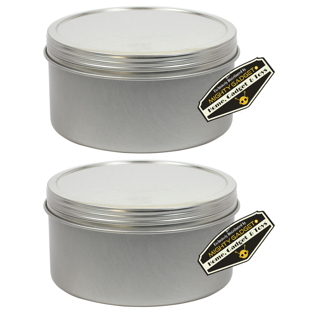 Mighty Gadget 2 x 10 oz Deep Screw Top Tins 1