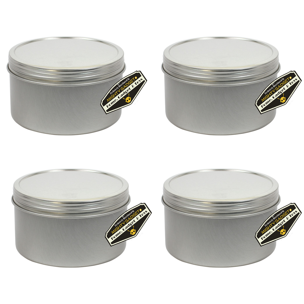 Mighty Gadget 4 x 10 oz Deep Screw Top Tins 1