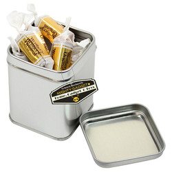 Mighty Gadget 1 x 7 oz Square Tin Cans 1