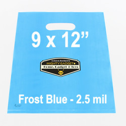 Mighty Gadget Frost Blue Translucent Merchandise Bags 1