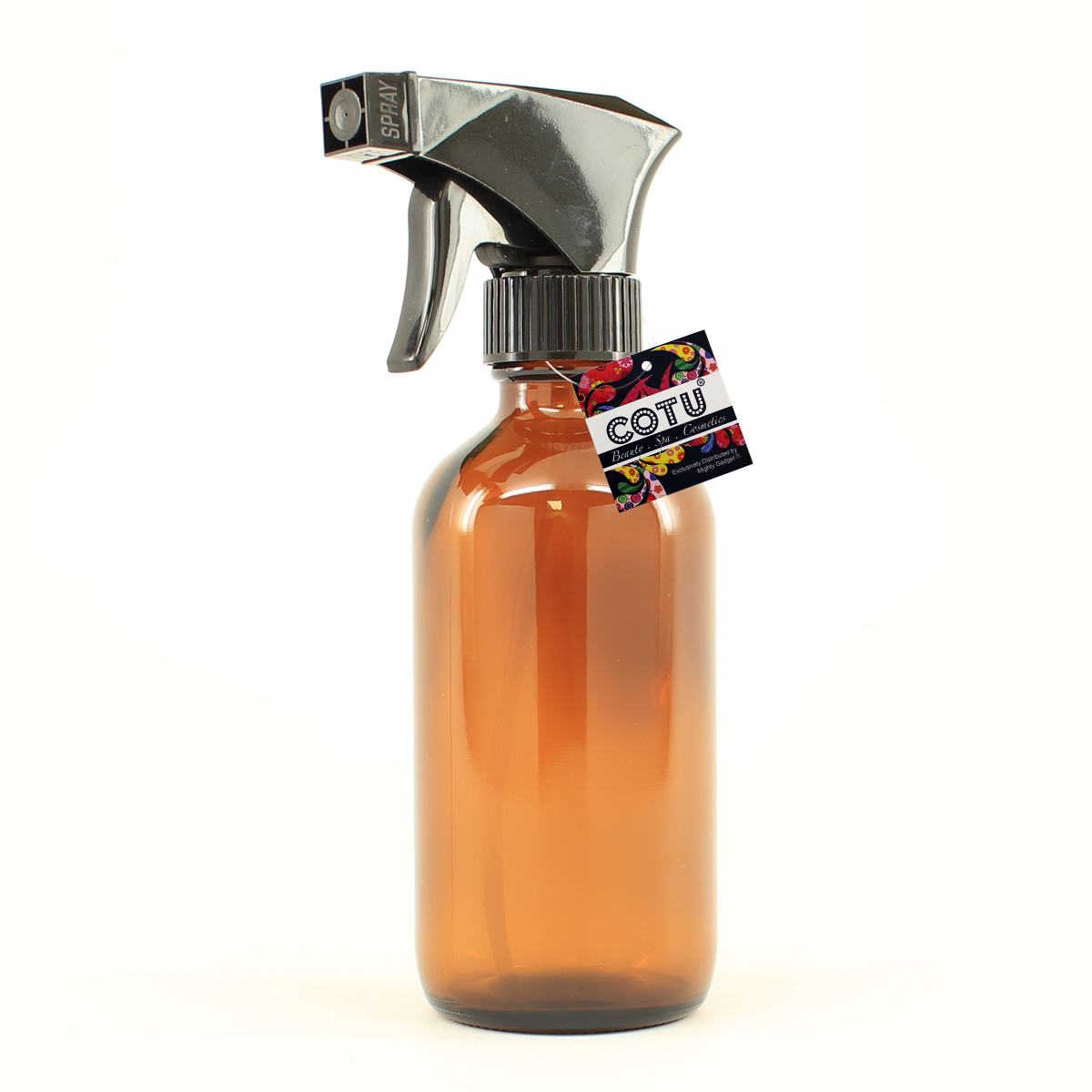 1 x 8oz Amber Glass Bottle w Trigger Spray