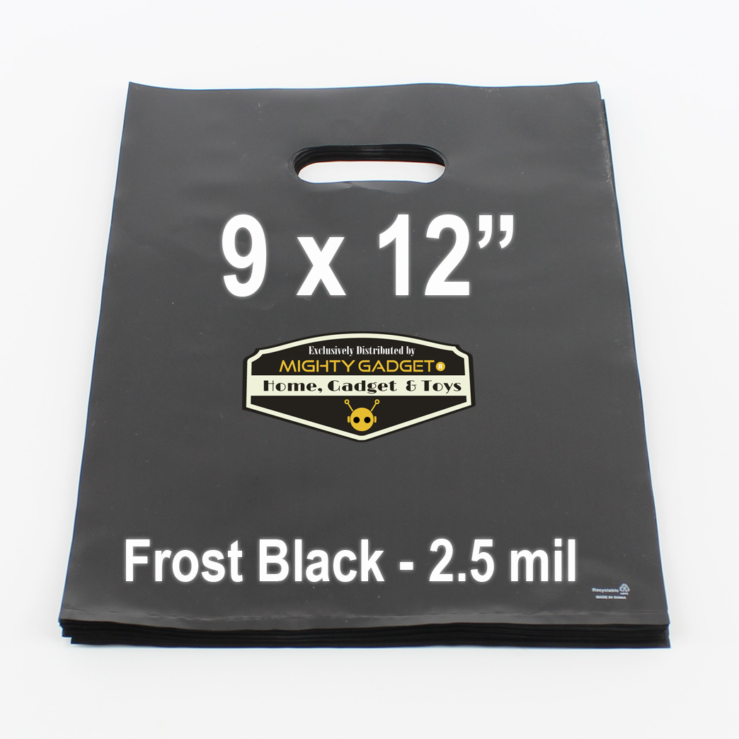Mighty Gadget Frost Black Translucent Merchandise Bags 2