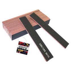 COTU Jumbo Washable Nail Files 100-180 Red Pack of 20 w Grit