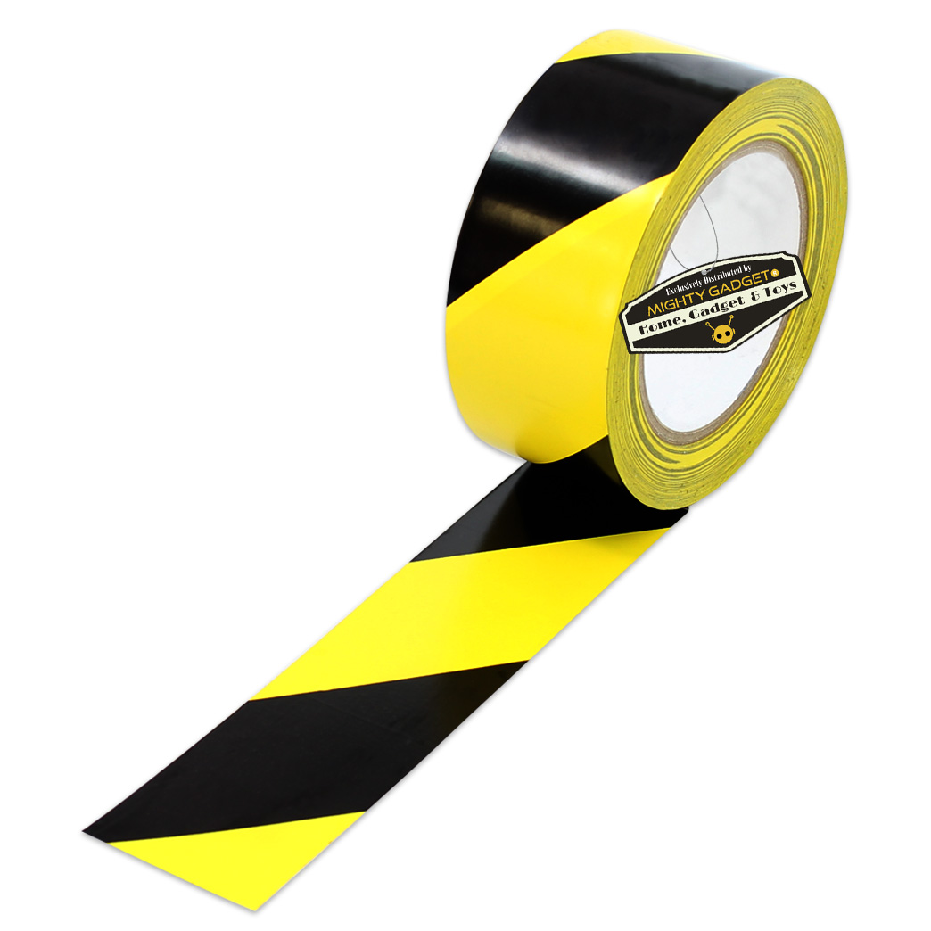 Mighty Gadget Yellow Black Safety Tape 5