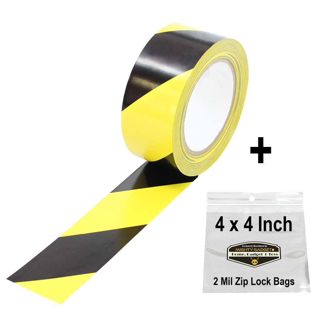 Mighty Gadget Yellow Black Safety Tape 1