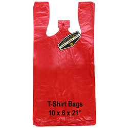 Mighty Gadget Red T Shirt Bags