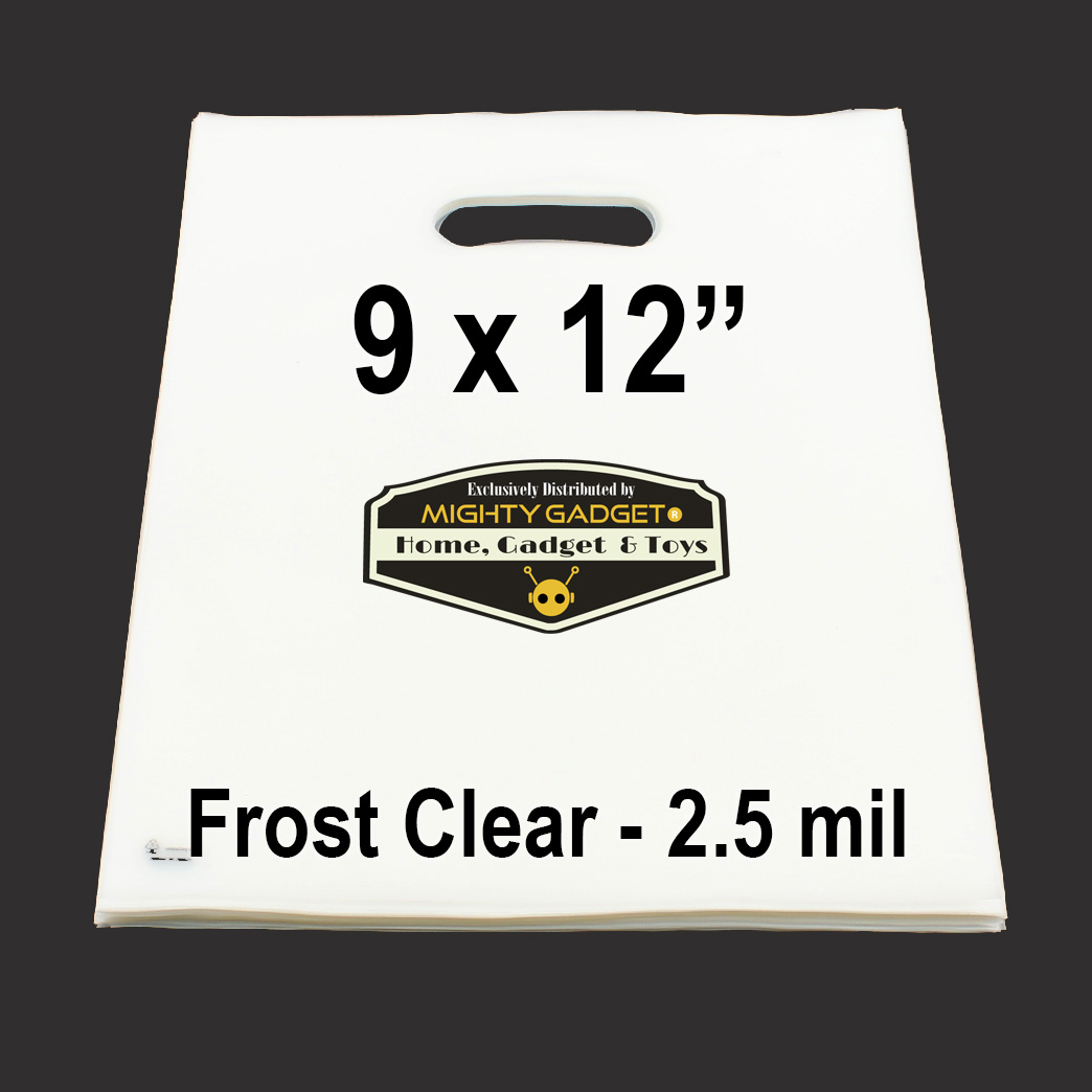 Mighty Gadget Frost Clear Translucent Merchandise Bags 2