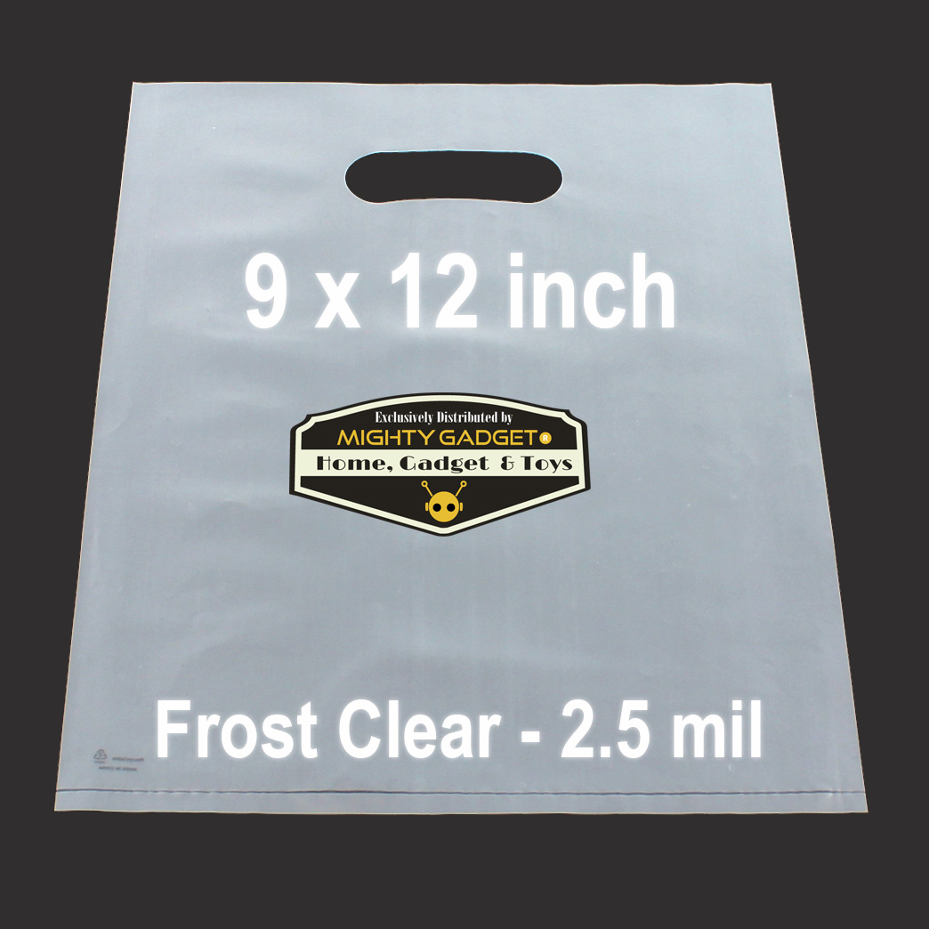 Mighty Gadget Frost Clear Translucent Merchandise Bags 1