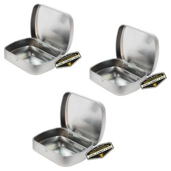 Mighty Gadget 3 x Mini Hinged Rect Tin Cans