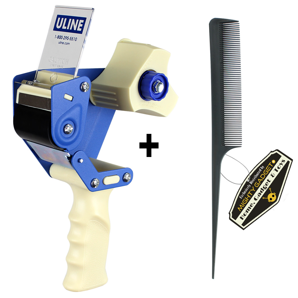 Mighty Gadget Rat Tail Combs + 1 Uline H-150 Tape Dispenser