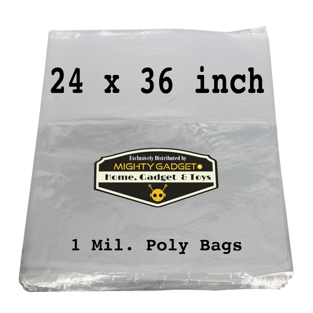 Mighty Gadget 24x36_ 1 Mil Flat Poly Bag