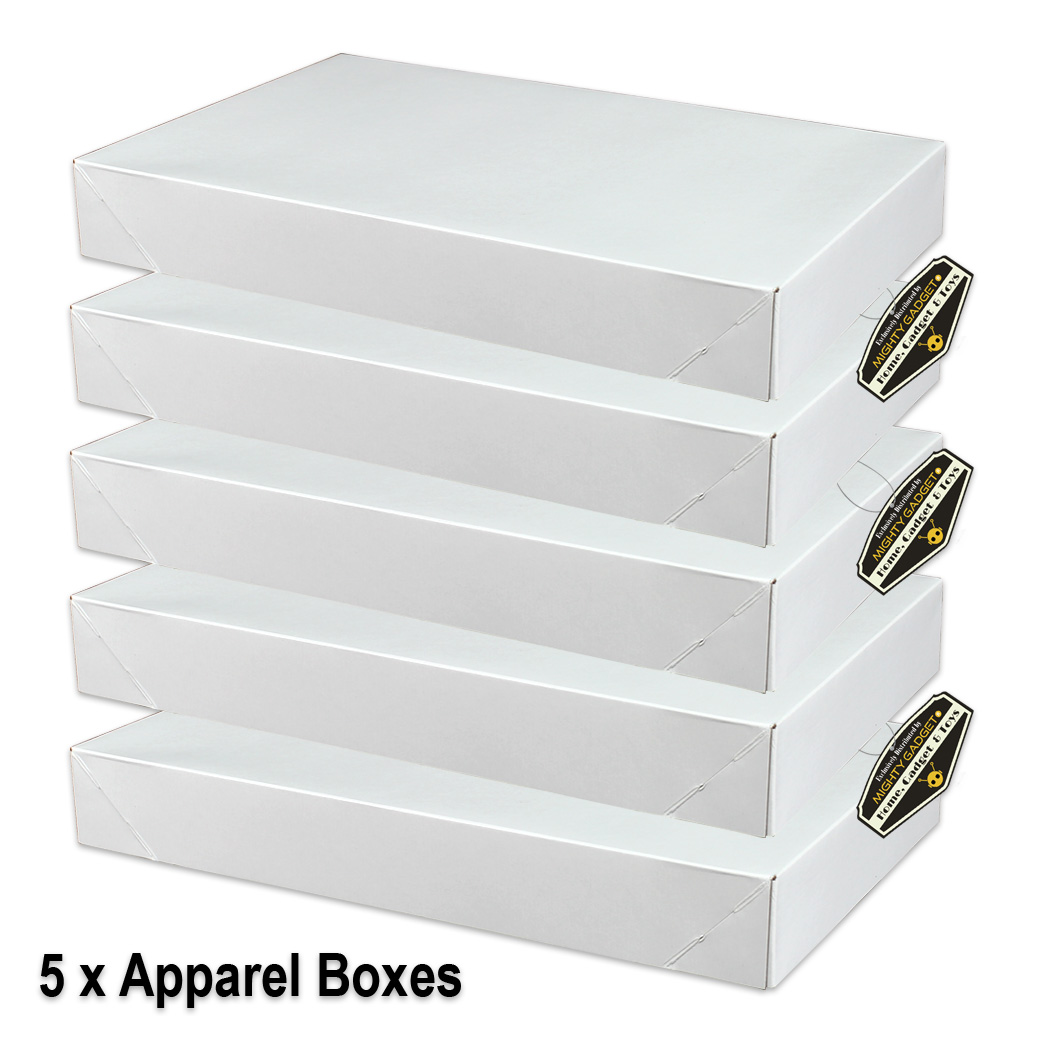 Mighty Gadget 5 x White Gloss Apparel Boxes v2
