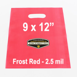 Mighty Gadget Frost Red Translucent Merchandise Bags 1