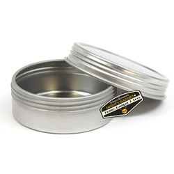 Mighty Gadget Screw Top Round Steel Tin Cans 1 oz