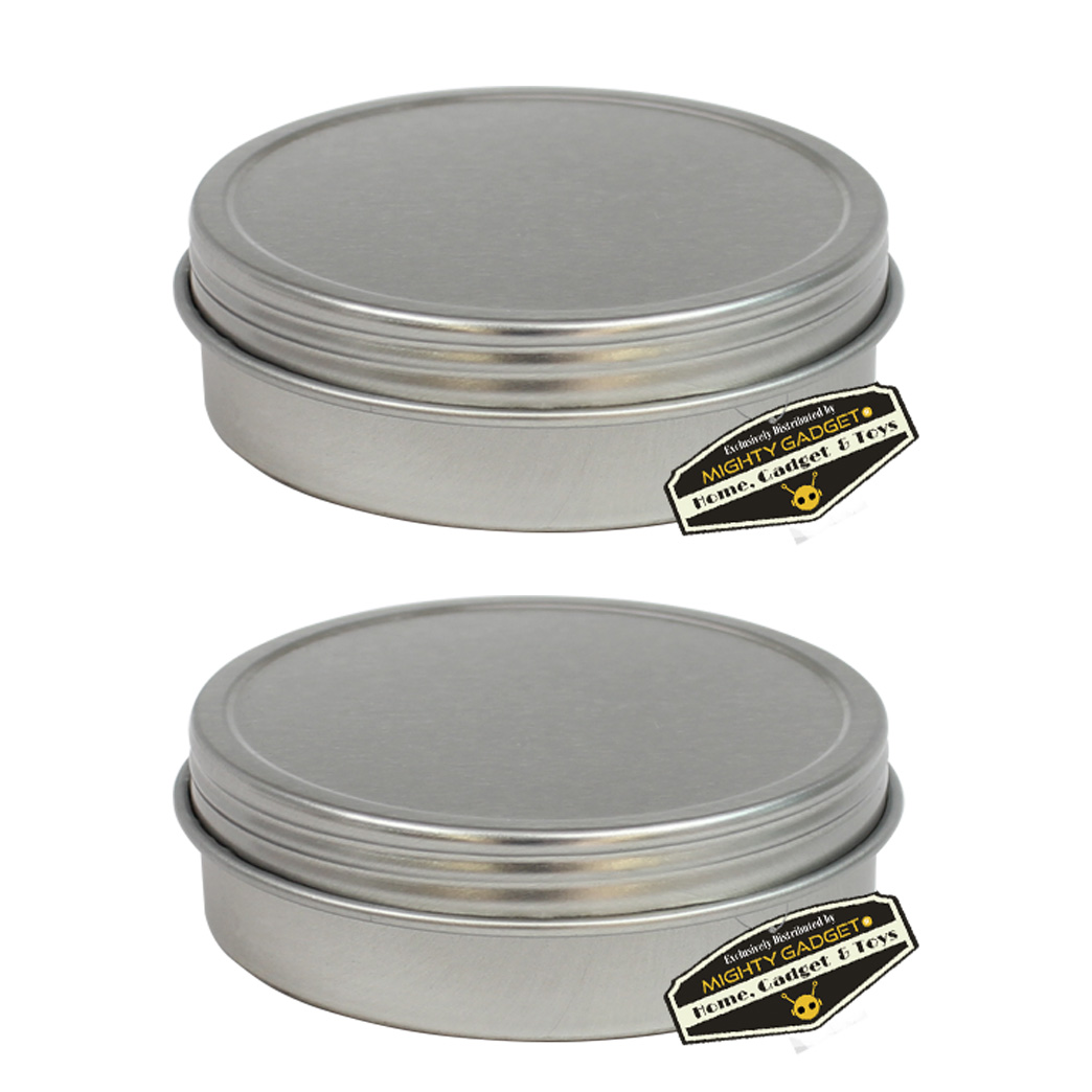 Mighty Gadget 2 x 8 oz Screw Top Tins 1
