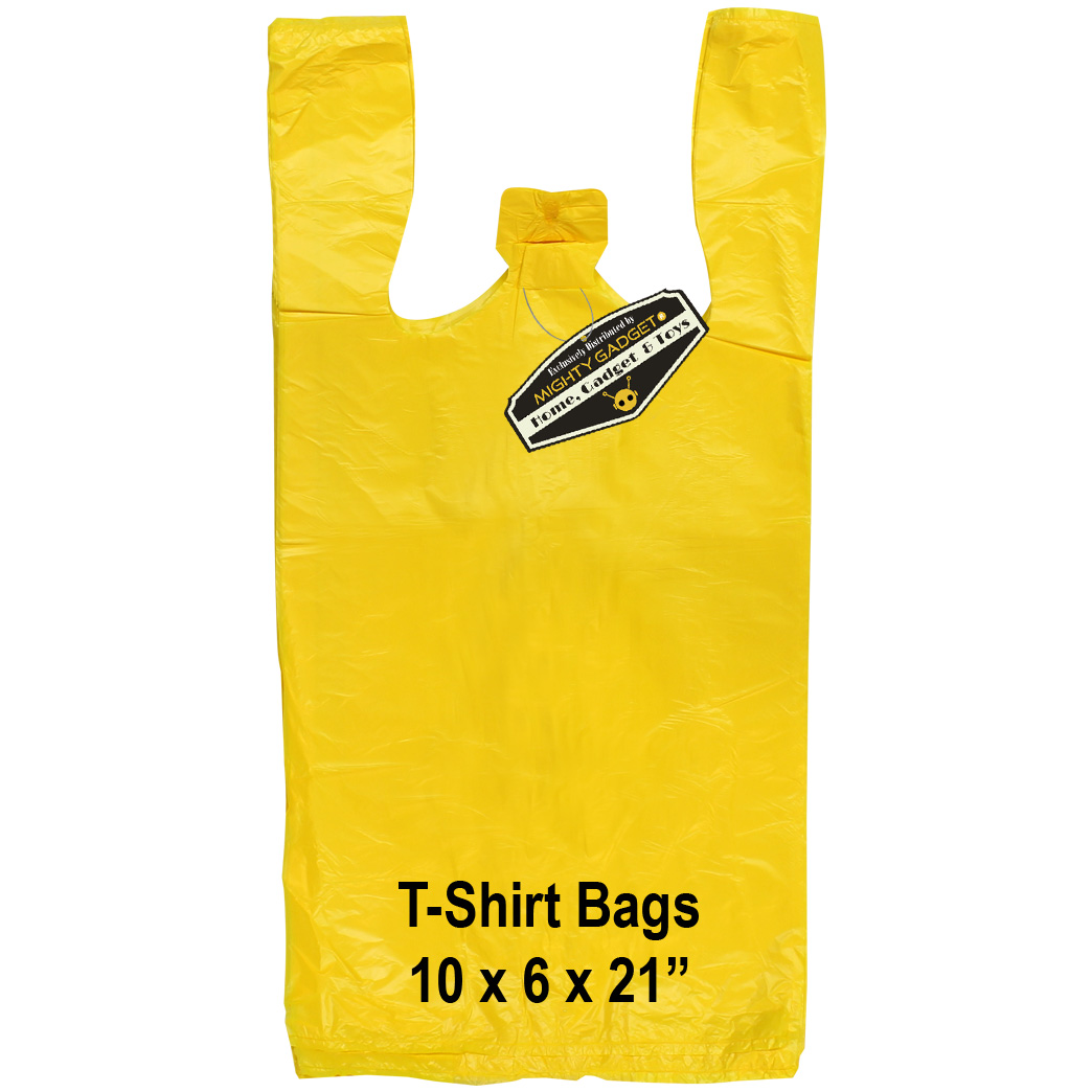 Mighty Gadget Yellow T Shirt Bags