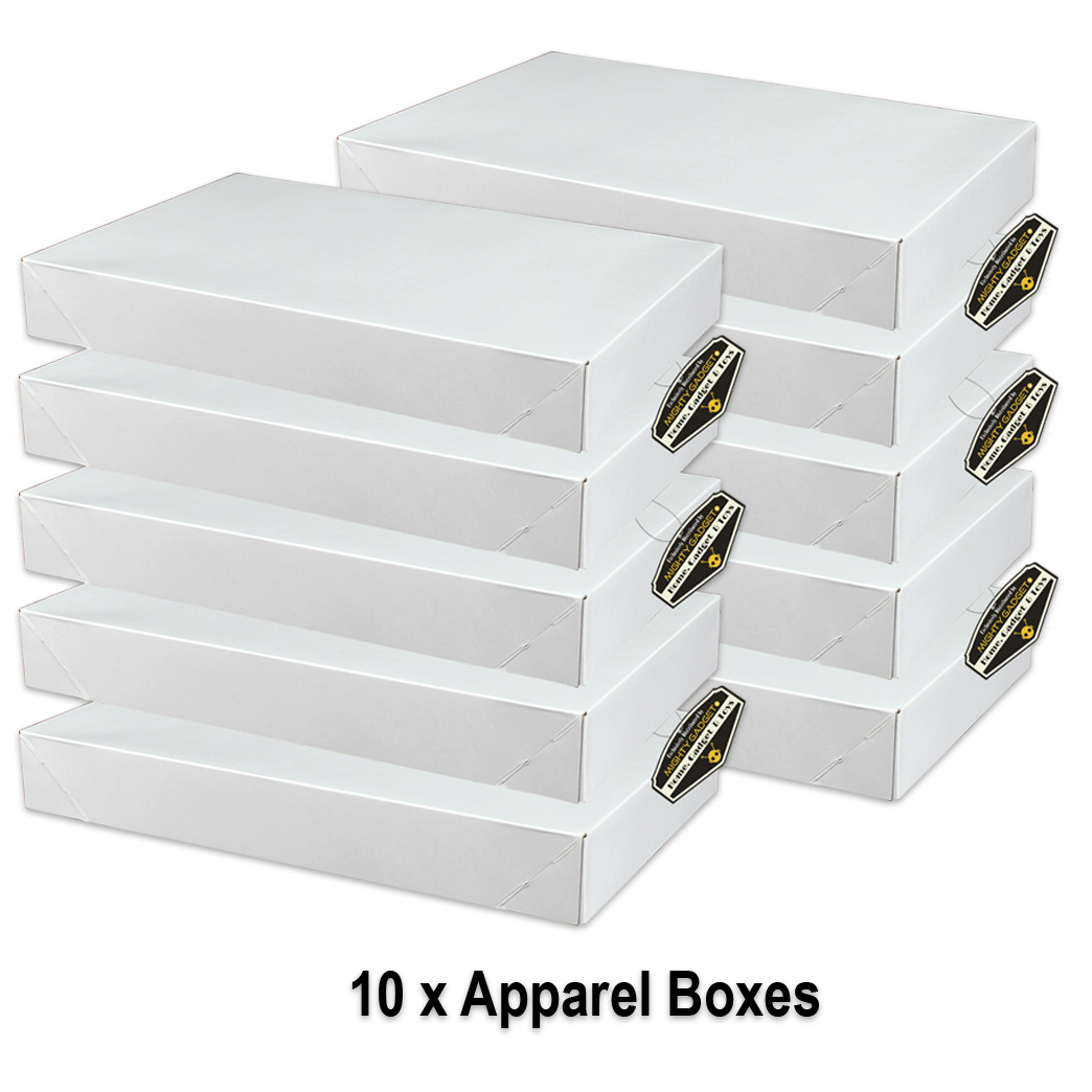 Mighty Gadget 10 x White Gloss Apparel Boxes v2