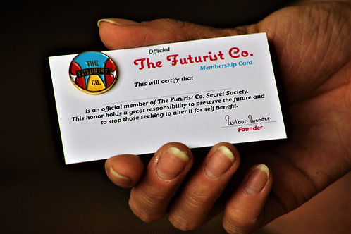 The Futurist Co. Lapel Pin And Membership Card