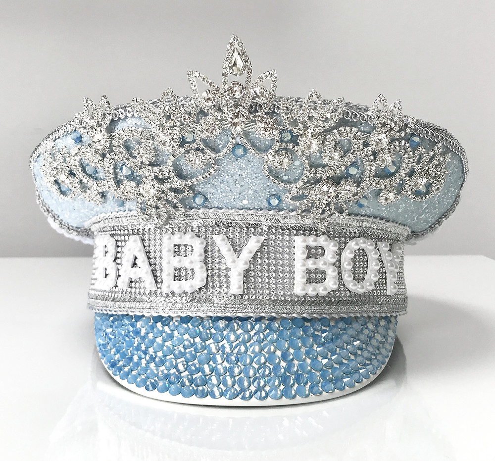 Charlotte Dawson Baby Boy Hat Gender Reveal Hat