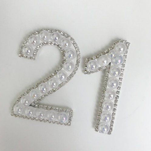 Peal Diamanté Edge Numbers (Birthday Hats Only)