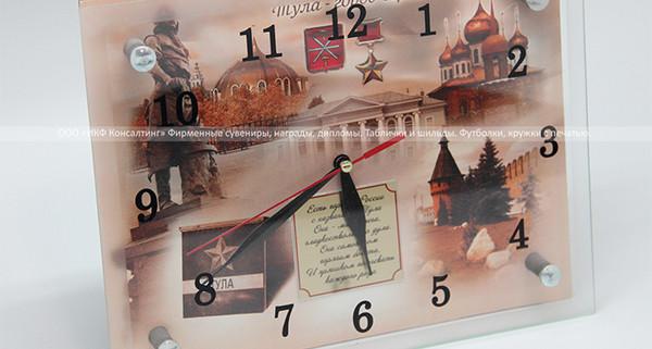 Часы стеклянные настенные с изображением