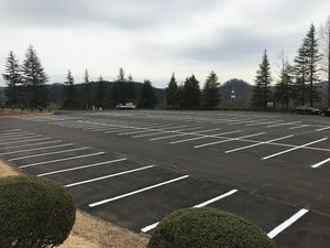 駐車場の白線工事