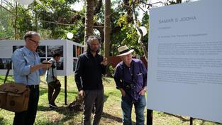 Samar Jodha, David Turnley and William Albert Allard discussing Samar's images, during GIPF.
