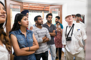 Legendary Nat Geo Photographer - William Albert Allard discussing his work with our students during GIPF.