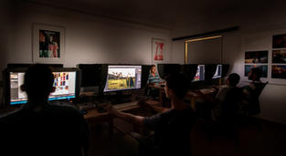 Students working in our Mac lab.