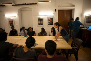 Catherine Karnow - Nat Geo photographer conducted a travel story photograhy workshop for our students.