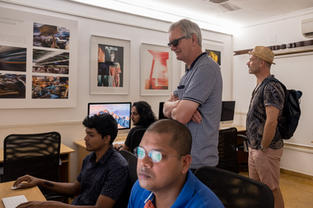 Legendary British Photographer - Martin Parr, spent a day at our campus with students.
