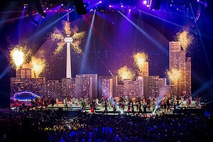 The city of Toronto was depicted during the Pan-American Games Closing Ceremony.jpg