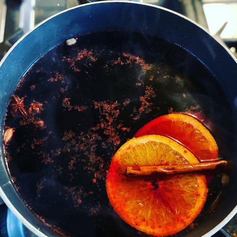 Mulled wine in Winter