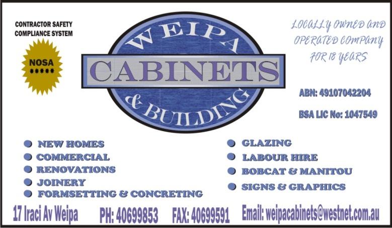 WEIPA CABINETS 2