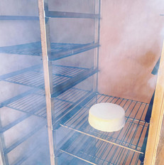 Cold Smoking a wheel of cheese