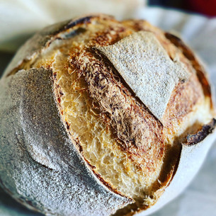 Sourdough loaf with cultured butter