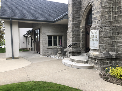 Front entrance to St. John's Thorold