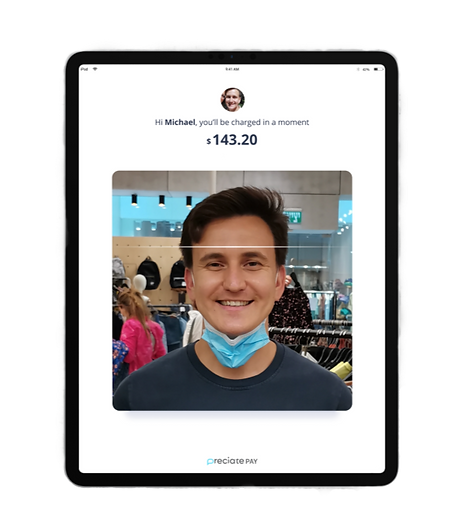 Preciate Pay by Face mockup