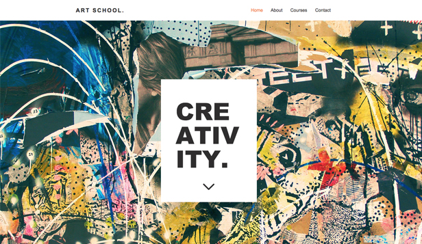 Arts visuels website templates – Ecole d'Art