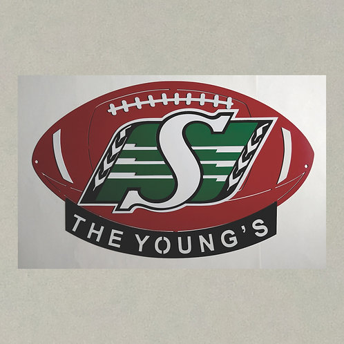 SP-J71391 Saskatchewan Roughriders Football in 3D
