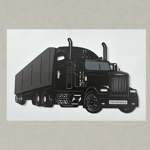 AN-J71380A Semi Truck in 3D